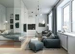 Mẫu thiết kế nội thất căn hộ chung cư 40m2 phần 1