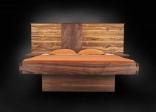 Mẫu giường ngủ gỗ walnut độc đáo