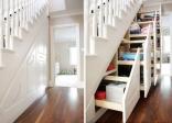 Lạ lẫm với cầu thang gỗ kết hợp với ngăn kéo