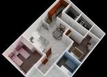 Thiết kế kiến trúc cho căn hộ 40 m2