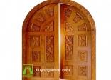 Mẫu cửa gỗ tự nhiên chạm khắc đẹp