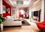 Thiết kế nội thất với sắc đỏ ấn tượng